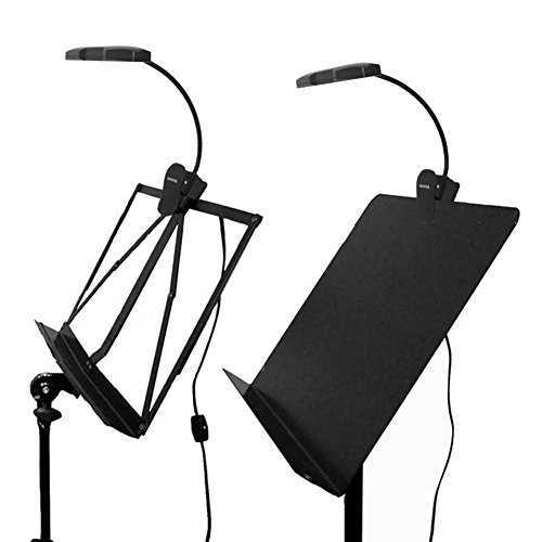 Kootek 2 Pack Clip On Reading Light - 10 LED Rechaegeable Book Lights, Music Stand Light Piano Orchestra Lamp with Adjustable Neck USB Desk Lamps by Kootek (Image #5)