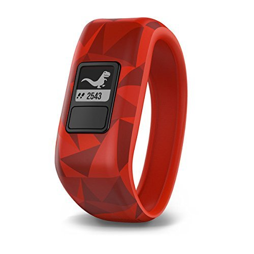 Garmin vívofit jr, Kids Fitness/Activity Tracker, 1year Battery Life, Red, Broken Lava