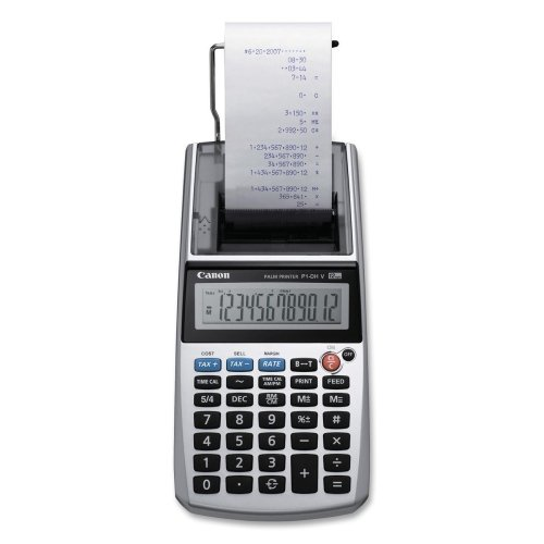 Canon P1DHV Printing Calculator - 12 Character(s) - LCD - AC Supply/Battery/Power Adapter Powered - 2quot; x 3.8quot; x 8quot; - ()