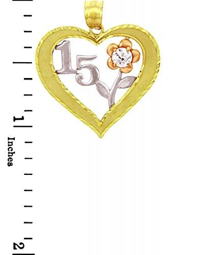 10 ct 471/1000 Bonbon 15 Oxyde de Zirconium Pendentif Collier (Livre Avec un 45 cm Chaine)