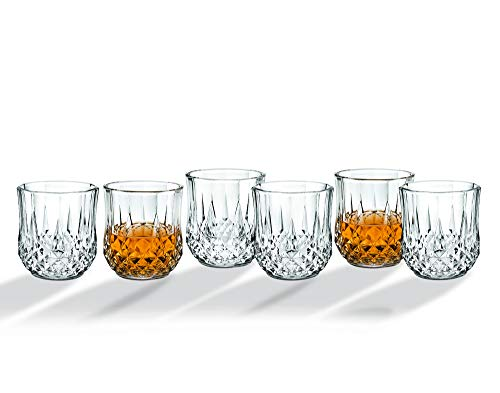 Whiskey Glasses Tumbler Bar Glass Set - Drink Glassware for Wine, Scotch, Water, Juice, Beer and Cocktails - 12oz, Set of 6