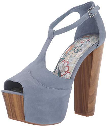 Jessica Simpson Women's DANY Shoe, ash Blue, 5 M US