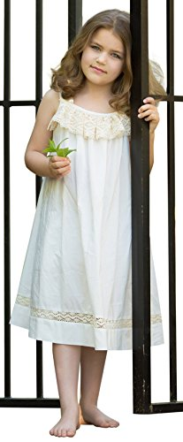 Strasburg Children Morning Gown Beach Lace Summer Dress Flower Girl (18 Month, Ivory)]()