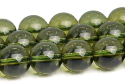 9mm Genuine Natural Moldavite Meteorite Czech Republic Round Beads 15.5'' Crafting Key Chain Bracelet Necklace Jewelry Accessories Pendants