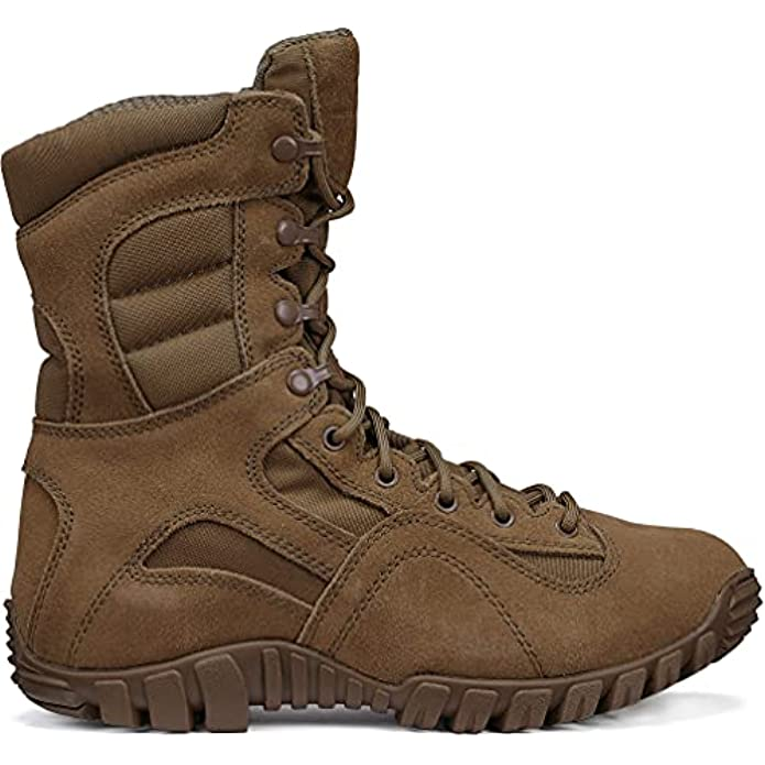 """TACTICAL RESEARCH TR Men's Khyber TR550 8"""" Army OCP ACU Lightweight Hot Weather Mountain Hybrid Combat Boot - Coyote Brown Cattlehide Leather and Nylon"""