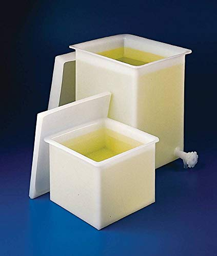 Bel-Art Heavy Duty Polyethylene Rectangular Tank with Top Flanges, Without Faucet; 18 x 13 x 10 in. (H34082-0000)