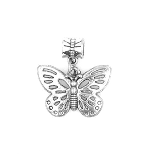 It's All About...You! Large Cut Out Butterfly Dangling European Bead Charm 86Ah (Charme Und Charm Sonnenbrille)