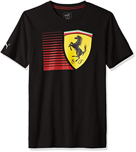 (PUMA Men's Standard Scuderia Ferrari Big Shield T-Shirt, F Black, XL)
