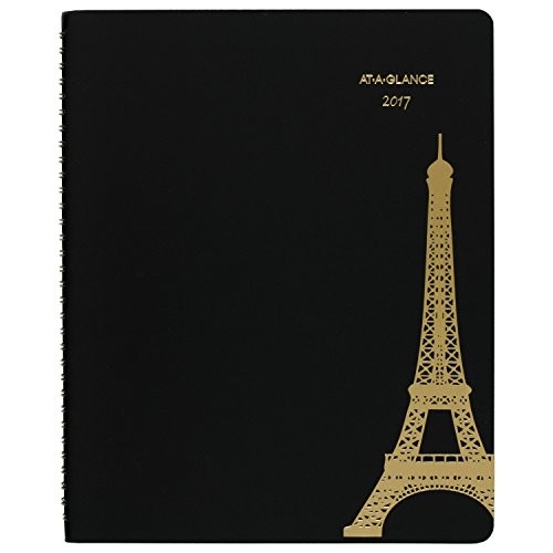 "AT-A-GLANCE Weekly / Monthly Planner / Appointment Book 2017, 8-1/2 x 11"", Paris, Black (579-905)"