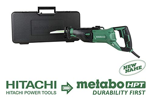 Metabo HPT Reciprocating Saw | Corded | 11-Amp | Variable Speed | Orbital Function Switch | Bevel Gear Drive System | Adjustable Pivot Foot (CR13VST)