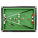 Hathaway Renegade 54-in Slate Bumper Pool Table for Family Game Rooms with Green Felt, 48-in Cues, Balls, Brush and Chalk