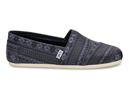 TOMS Womens Classic Linen Rope-Sole Comfortable and Easy-Fit Slip-On Navy Blanket Stripe Print kOgAuuk