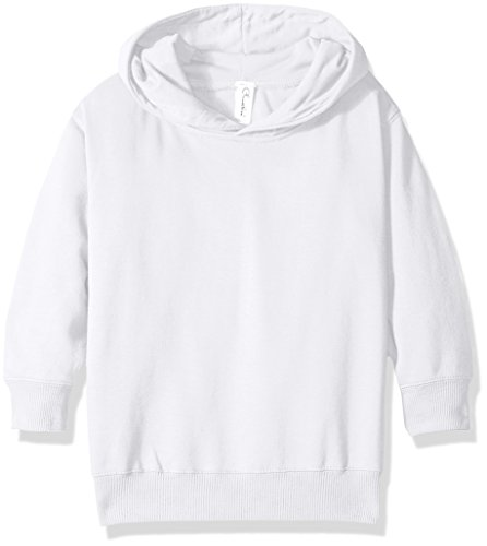(Clementine Apparel Girls' Little (2-7) Apparel Toddler's Fleece Pullover Hood, White, 5/6)