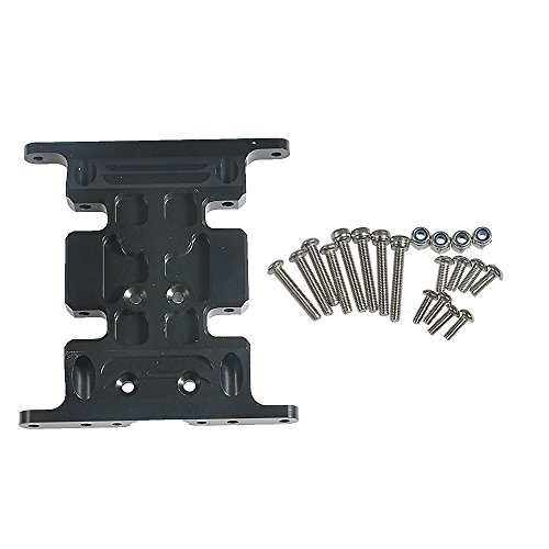 RCLions Aluminum Alloy Center Skid Transmission Plate for Axial SCX10 RC Crawler Car ()