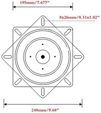 Dometool UK 360/Grado Resistente Taburete de Bar Giratorio Taburete de Bar Barco Giratorio de Repuesto Placa Asiento Base giratoria Soporte de Pared