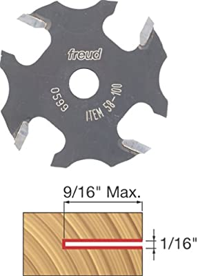 Freud 58-100 1/16-Inch 4-Wing Slot Cutter for 5/16 Router Arbor