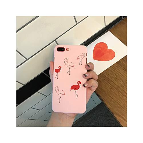 for iPhone 6 7 6S 6 S Case for iPhone 7 8 Plus 8Plus 7Plus Case Cover Hard Cute Pink Flamingo Rabbit Love Heart Case,Flamingo,for iPhone 8 Plus