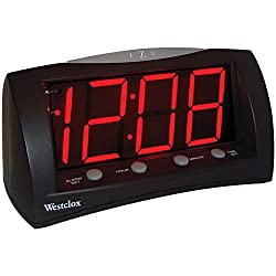 Westclox 66705 Oversized Snooze Alarm Clock, Black, 1.8,
