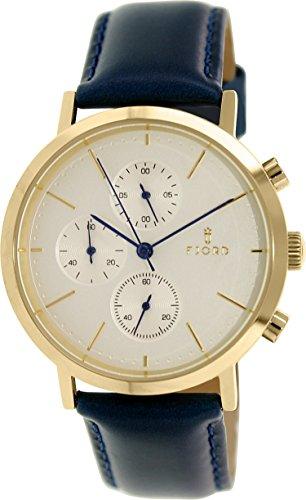 Fjord Women's Erik FJ-3021-01 Blue Leather Quartz Watch