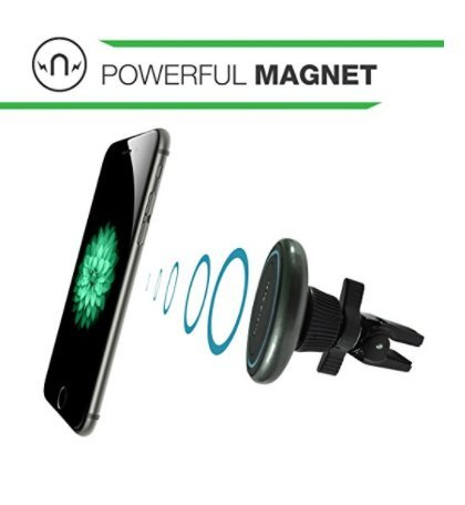 Cell Phone Magnetic Vent Mount - Suitable For Iphone X/8 Plus/8/7/7 Plus/6/6 Plus, Samsung Galaxy