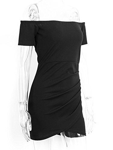 Simplee Apparel - Vestido - envolvente - para mujer negro