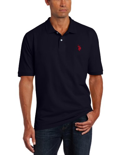 Solid Pecan (U.S. Polo Assn. Men's Solid Pique Shirt, Classic Navy, X-Large)