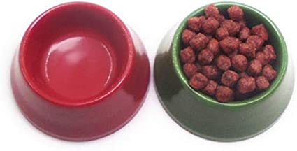 1:12 Dollhouse Miniature Handcraft A Bowl Pet Dog Food Plastic Model Red