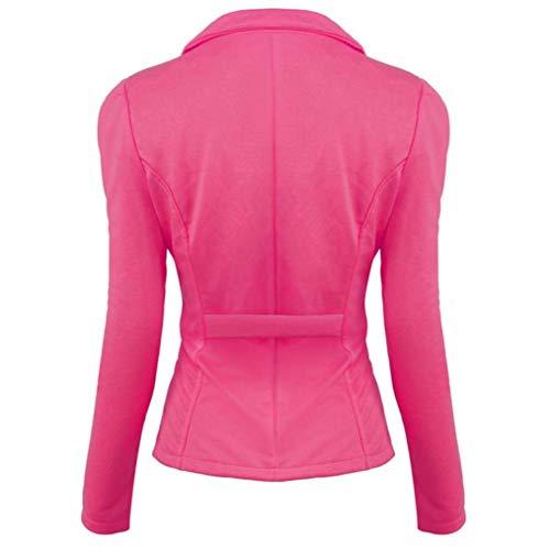 Pink Elegante Solidi Bavero Autunno Grazioso Tailleur Casual Outerwear Donna Colori Giacca Primaverile Moda Cappotto Lunga Button Giaccone Da Giovane Di Giacche Manica qAXEwtn1Ef