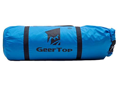 Geertop Waterproof Adjustable Tent Compression Bag Lightweight Duffel Bag - for Camping Outdoor Sports (Blue, for 4 to 5 Men Tent)