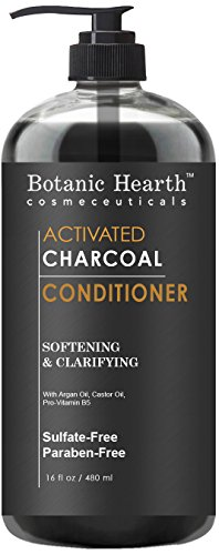 Botanic Hearth Charcoal Hair Conditioner Sulfate Free Paraben Free For Men and Women Softening and Clarifying 16 fl oz