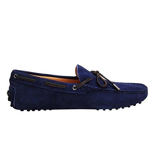 Shenduo Herren Mokassin Freitzeit Slipper Driving Schuhe D7151 Blau-2