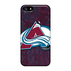 Protective Cell-phone Hard Cover For Iphone 5/5s With Allow Personal Design Nice Colorado Avalanche Image JamesKrisky