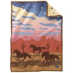 Wild Horses Crib Blanket by Pendleton