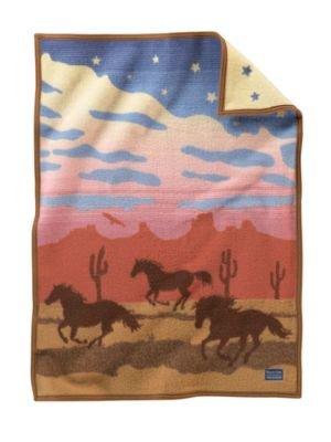 Wild Horses Crib Blanket by Pendleton by Pendleton
