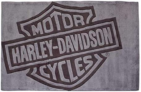 Harley-Davidson Bar Shield Large Area Rug – Deep Gray Acrylic HDL-19502