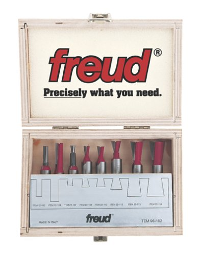 Freud 8 Piece Bit Sets  for Incra Jig (1/4