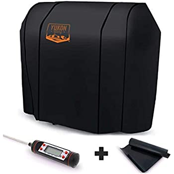 Yukon Glory Original 7569 Premium Cover for Spirit 200/300 Series and Weber Genesis Silver A/B Grills - Equivalent to Weber 7569 Grill Cover - Bonus Meat ...