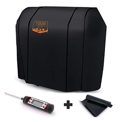 - Yukon Glory Original 7569 Premium Cover for Spirit 200/300 Series and Weber Genesis Silver A/B Grills - Equivalent to Weber 7569 Grill Cover - Bonus Meat Poultry Thermometer and BBQ Grilling Matt