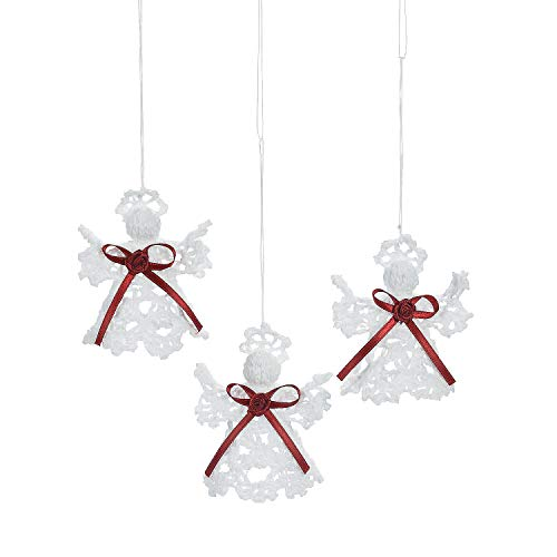 Fun Express Crocheted Angel Ornaments (Set of 12) Christmas Tree Decorations (Trading Christmas Oriental Tree)
