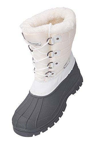 Scarponi Da Neve Da Donna Whistler Di Montagna - Tomaia In Tessuto Con Tallone Rinforzato E Parafanghi - Ottimo Per Calciare La Neve Apres-ski In Comodo Stile Bianco