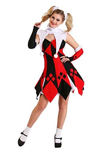 Cute Court Jester Women's Costume Medium