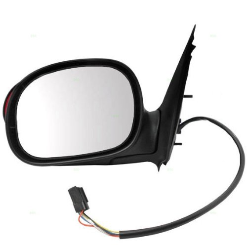 00-03 Pickup Power Side View Door Mirror Black Assembly W/SIGNAL Driver Left LH ()