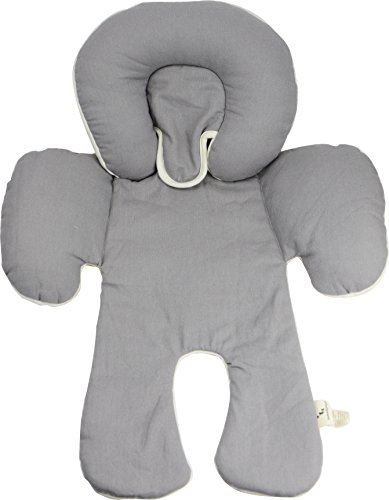 DorDor & GorGor CuddleME Infant Head Support with Organic Cotton, 2-in-1 Reversible, Gray]()