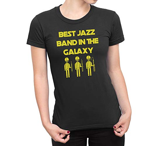 Ladies Jazz Music T-Shirt Best Jazz Band in The Galaxy