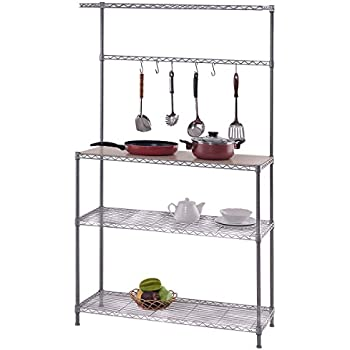 Amazon Com Yaheetech 4 Tier Stainless Steel Metal Wire
