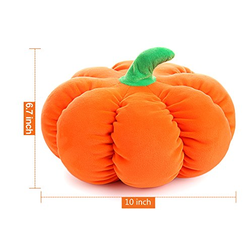 CatchStar Stuffed Pumpkin Fluffy Plush Throw Pillow Durable Soft Vegetable Gift Toy for Kids Orange 10