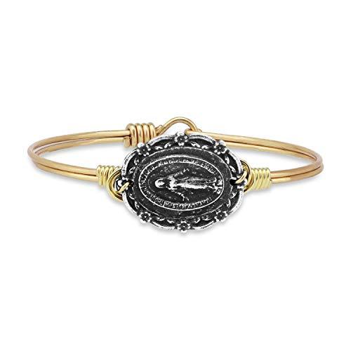 Luca + Danni Mother Mary Bangle Bracelet - Petite/Brass Tone (Artist Bracelet Bangle)
