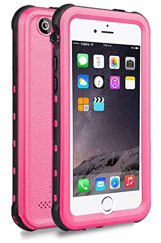 iPhone 5 5S SE Waterproof Case, Upgraded Shockproof Dropproof Dirtproof Rain Snow Proof Full Body Protective Cover IP68 Underwater Case Built-in Screen Protector for iPhone 5S 5 SE (Pink)
