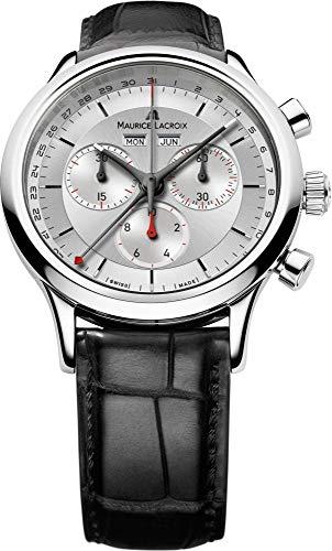 Maurice Lacroix Les Classiques Chronograph Men's Silver Dial Swiss Calendar Watch LC1228-SS001-131-1