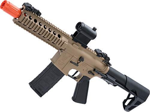 (Evike King Arms M4 PDW SBR Airsoft AEG Rifle (Color: Desert Earth/Long))